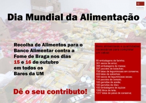 UM promove recolha de alimentos e luta contra o desperdício