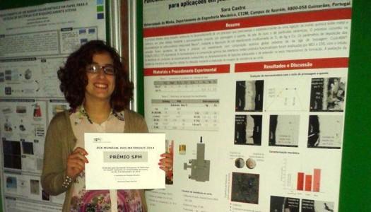 Ex-aluna da UMinho premiada pela Sociedade Portuguesa de Materiais