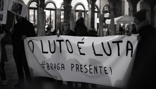 """Homenagem a Marielle Franco: """"O luto é a luta: Braga Presente!"""""""