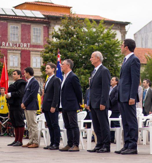 Convidados de honra da cerimónia de abertura