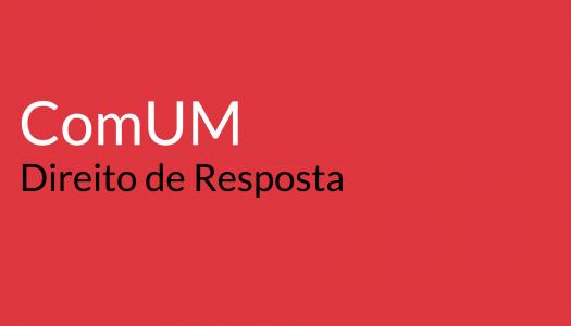 Direito de Resposta da CM de Guimarães