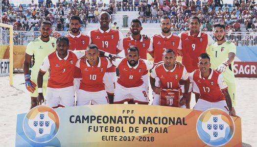 SC Braga sagra-se bicampeão nacional de futebol de praia