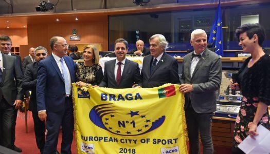 Braga recebe distinção de melhor Cidade Europeia do Desporto 2018