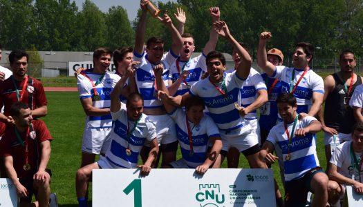 CNU's. AEISCTE conquista medalha de ouro em rugby de 7 masculino