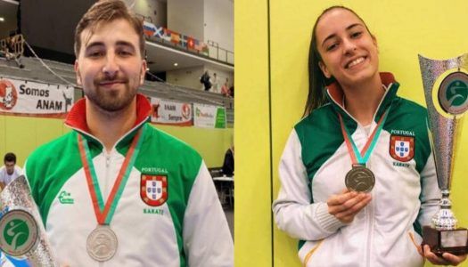 António Cardoso e Marta Araújo vice-campeões do mundo em Karaté Shotokan