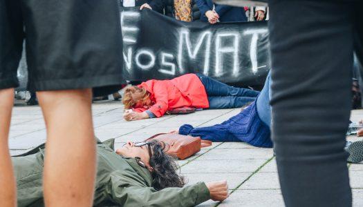 """""""Basta de nos matarem!"""". Mulheres de Braga saem à rua"""