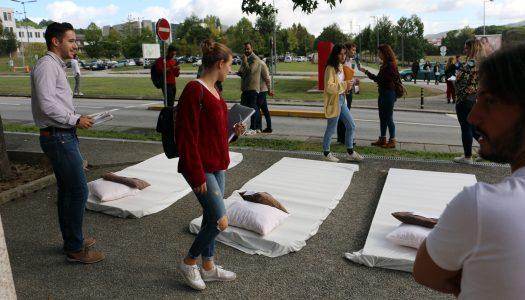 Jovens socialdemocratas protestam preços elevados no alojamento estudantil
