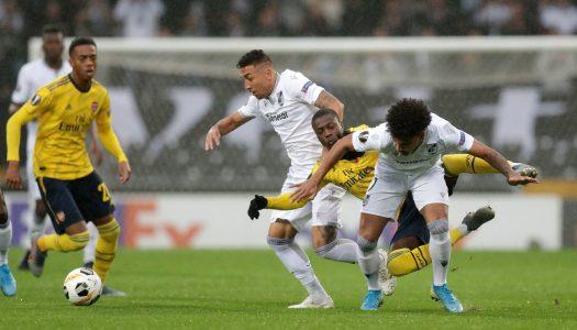 Serenata à chuva termina com empate entre Vitória SC e Arsenal