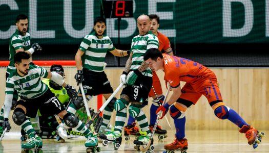 Hóquei em Patins. Juventude de Viana derrotada pelo Sporting CP