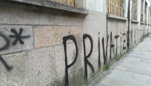 Autarquia denuncia atos de vandalismo pelos edifícios históricos de Braga