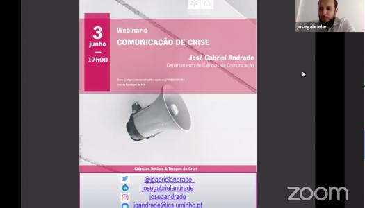 """José Gabriel Andrade: """"A crise não é um evento. É um processo com início, meio e fim"""""""