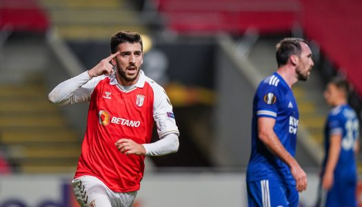 SC Braga empata com o Leicester City ao cair do pano