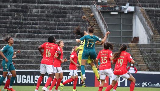 Gverreiras do Minho sofrem goleada frente ao SL Benfica