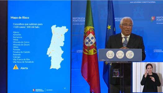 António Costa anuncia avanço da terceira fase de desconfinamento